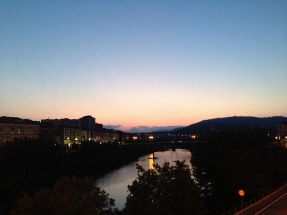 オーレンセの朝、ローマ橋から