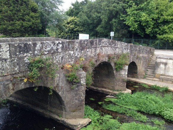コンポステラ市街の石橋